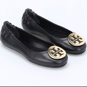 Tory Burch Minnie Travel Ballet Flats (Leather)